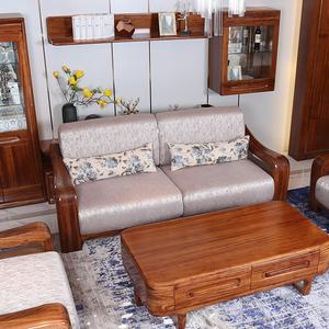 柏森(beson) 柏森家具 实木沙发 乌金木语实木沙发 乌金木1 2 3沙发